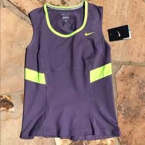 NWT: Nike Purple & Volt Dri-Fit top